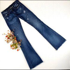 Blank NYC Released Raw Hem Bootcut Jeans SZ 26